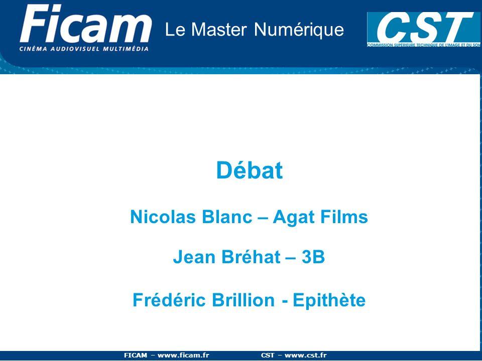 Débat Le Master Numérique Nicolas Blanc – Agat Films Jean Bréhat – 3B