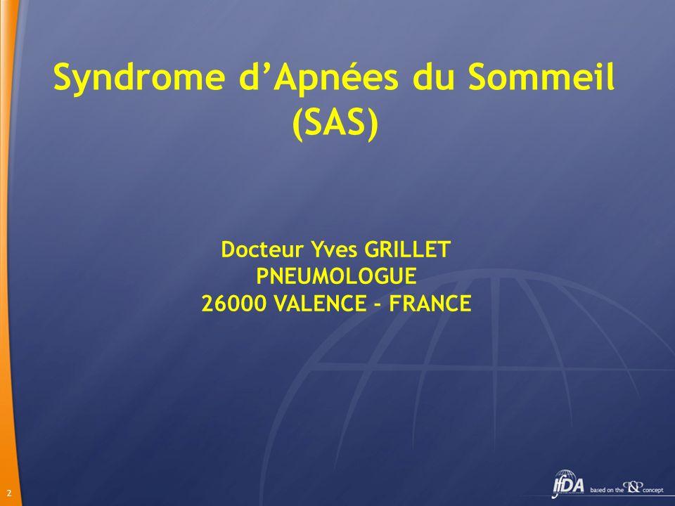 Syndrome d'Apnées du Sommeil (SAS)