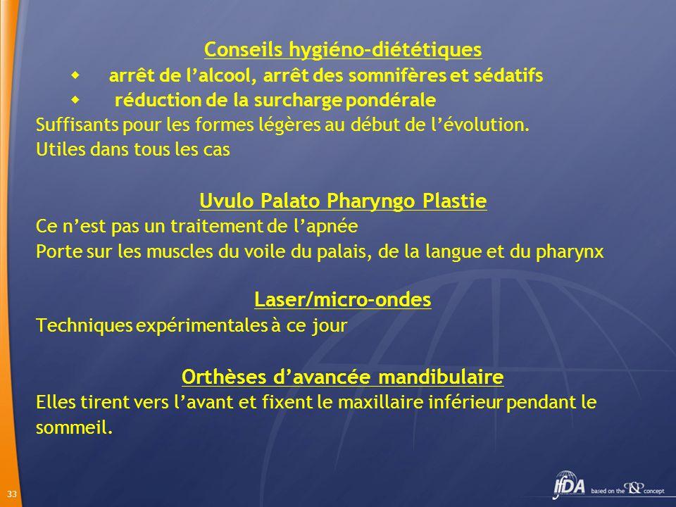 Conseils hygiéno-diététiques