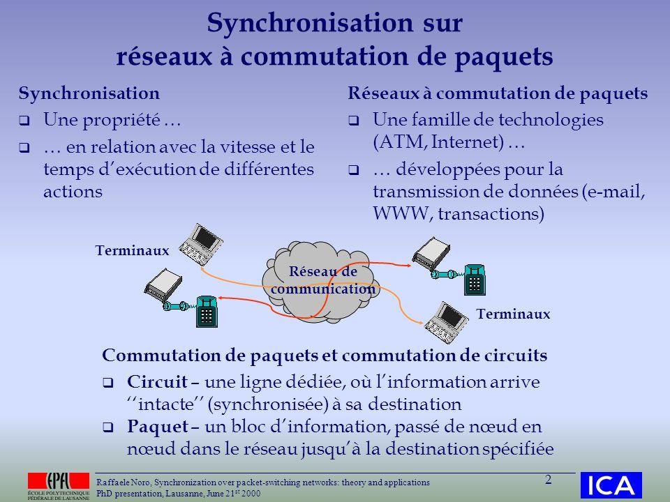 Synchronisation sur réseaux à commutation de paquets