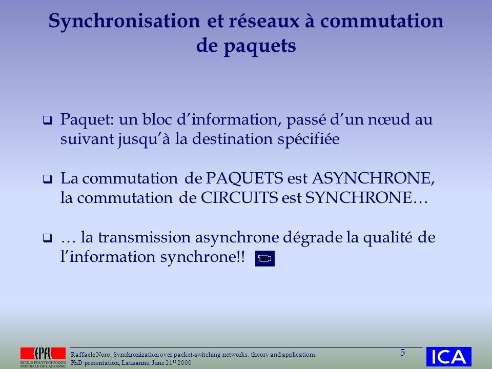 Synchronisation et réseaux à commutation de paquets