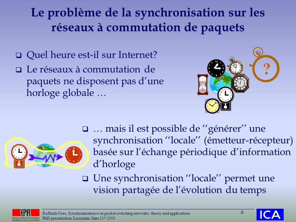 Le problème de la synchronisation sur les réseaux à commutation de paquets