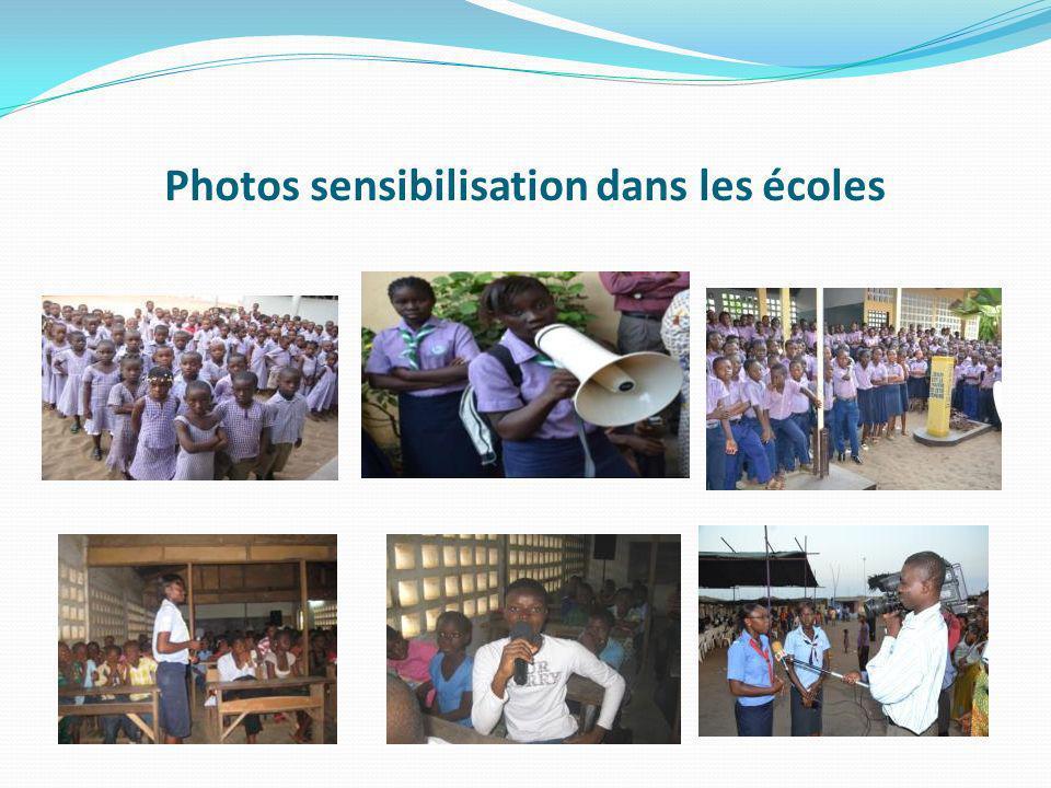 Photos sensibilisation dans les écoles