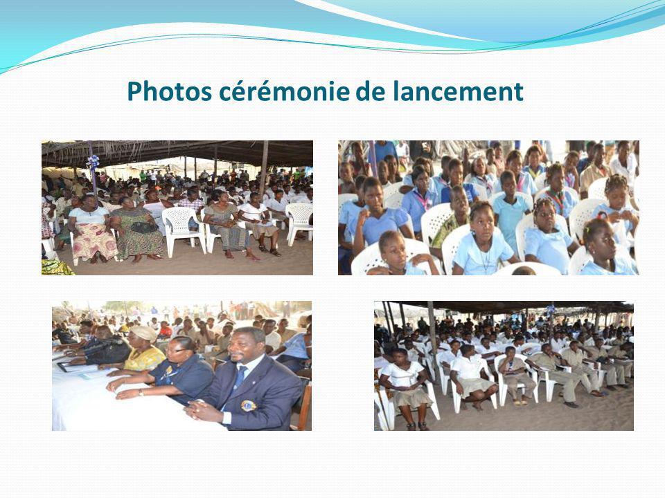Photos cérémonie de lancement