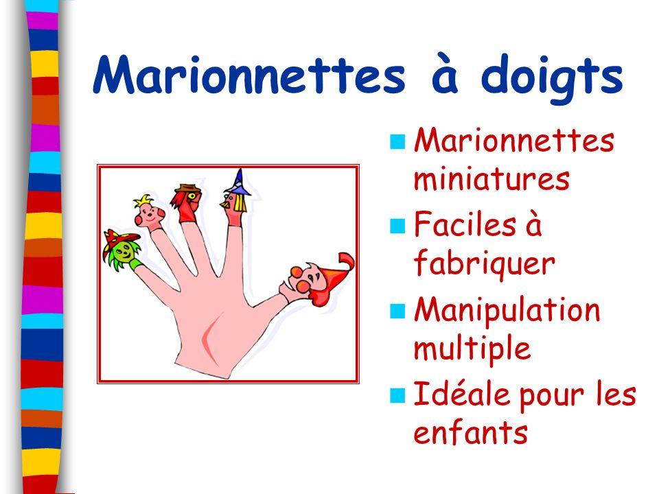 Marionnettes à doigts Marionnettes miniatures Faciles à fabriquer