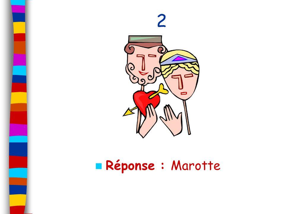 2 Réponse : Marotte