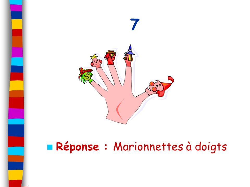 Réponse : Marionnettes à doigts