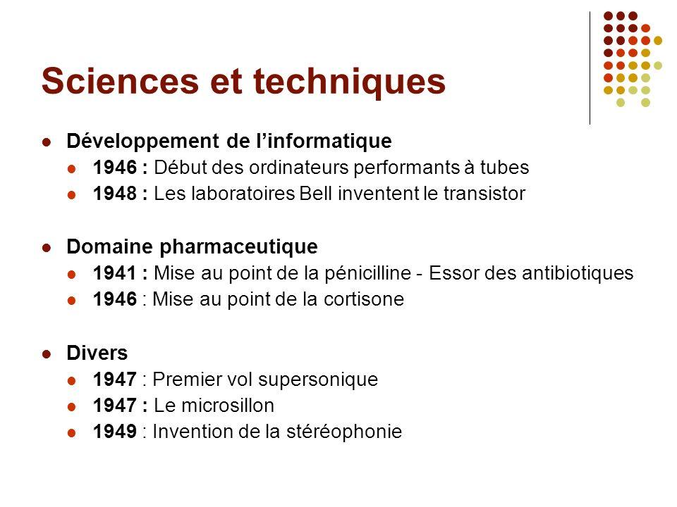 Sciences et techniques