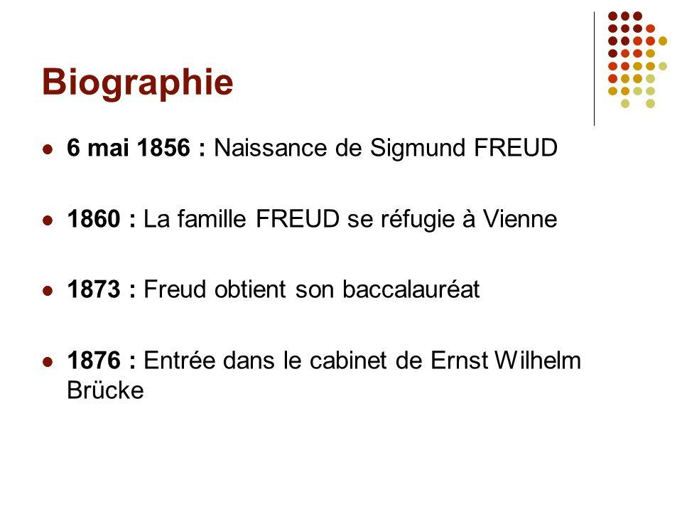 Biographie 6 mai 1856 : Naissance de Sigmund FREUD