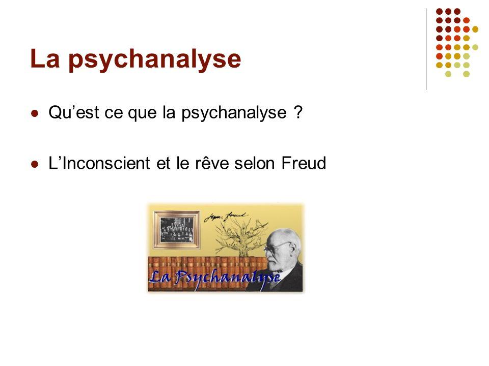 La psychanalyse Qu'est ce que la psychanalyse