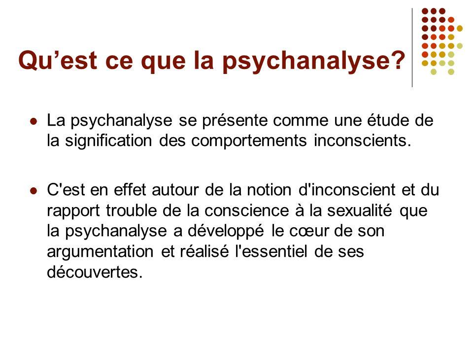 Qu'est ce que la psychanalyse