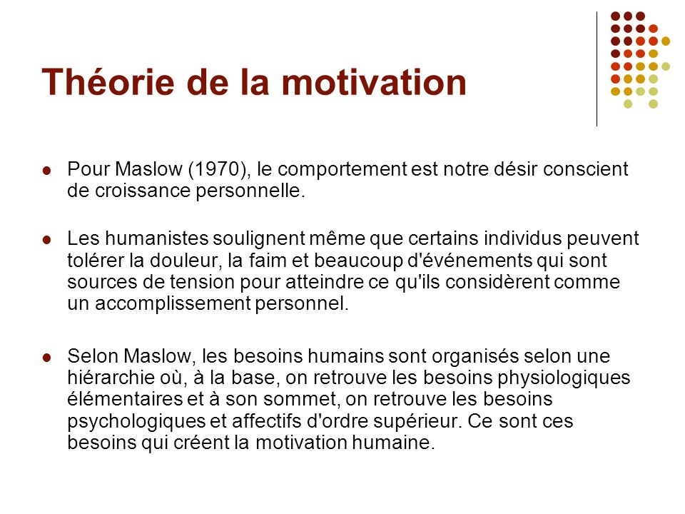 Théorie de la motivation