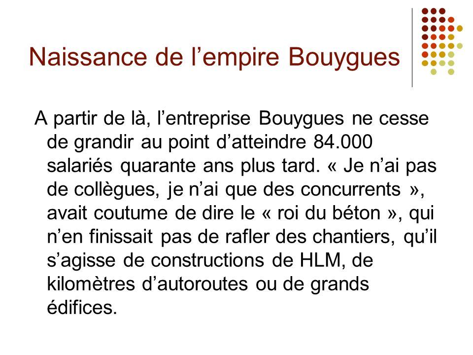 Naissance de l'empire Bouygues