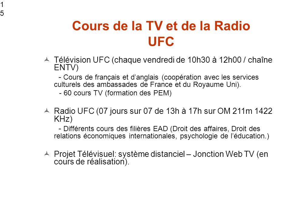 Cours de la TV et de la Radio UFC