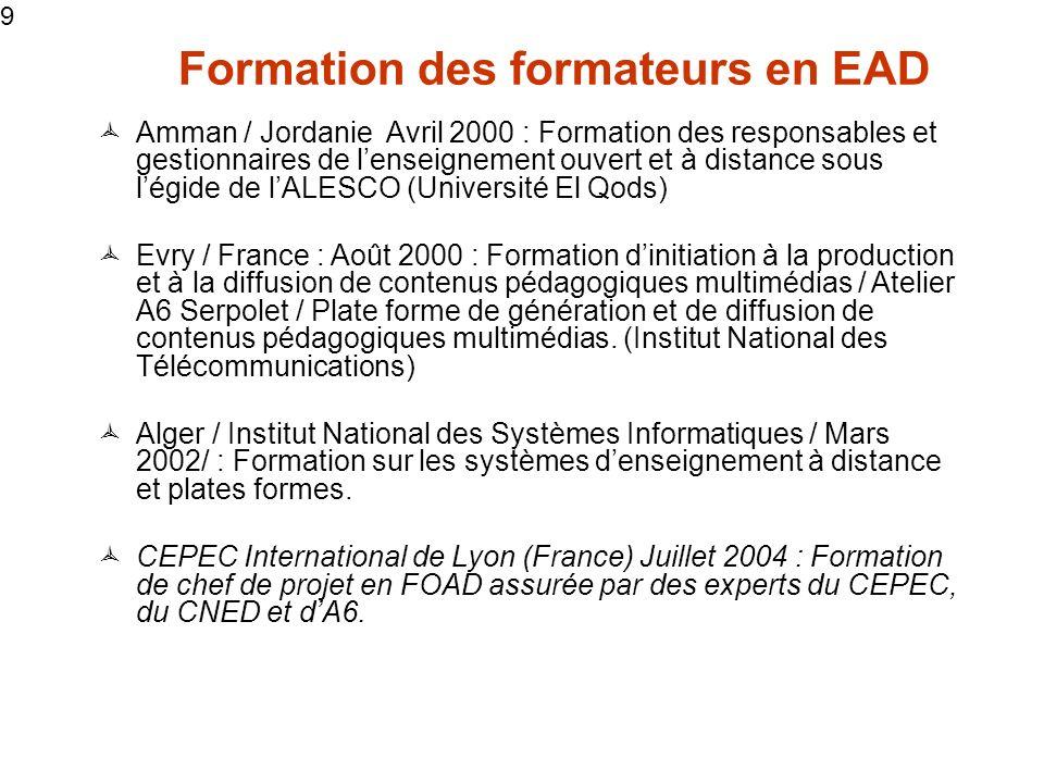 Formation des formateurs en EAD