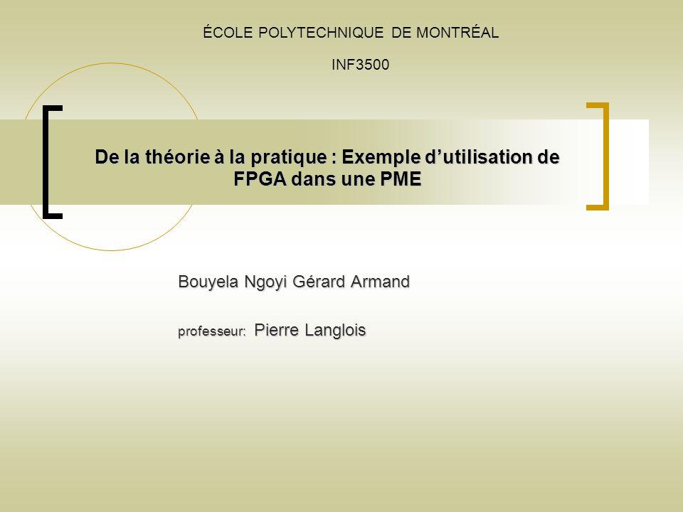 Bouyela Ngoyi Gérard Armand professeur: Pierre Langlois