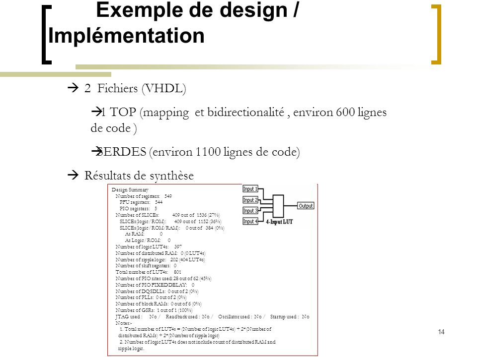 Exemple de design / Implémentation
