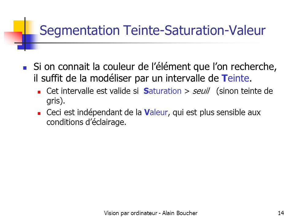 Segmentation Teinte-Saturation-Valeur