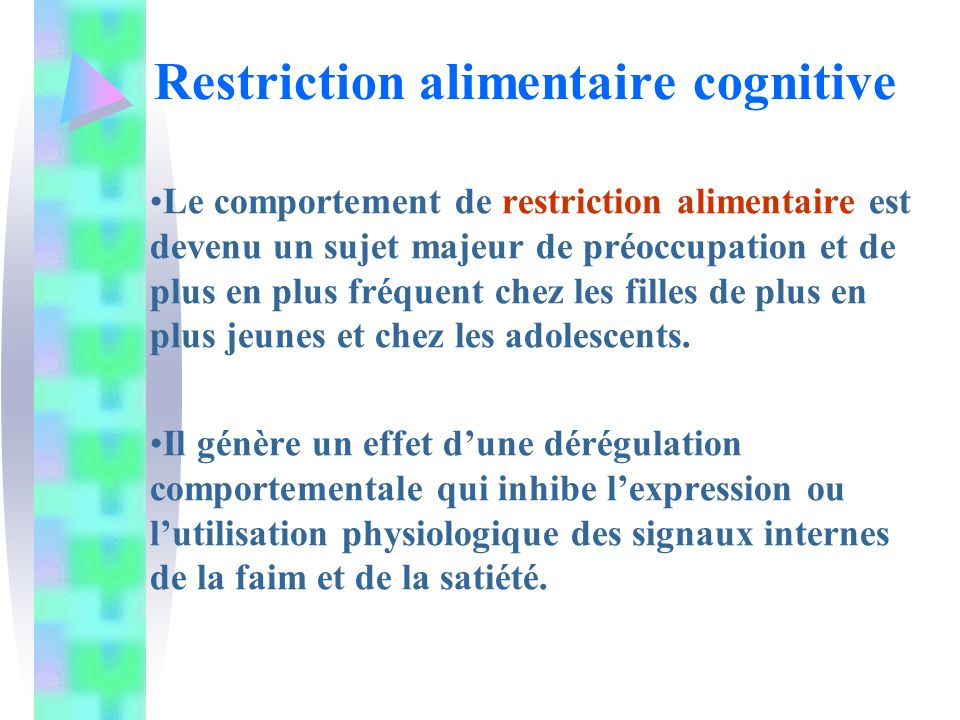 Restriction alimentaire cognitive