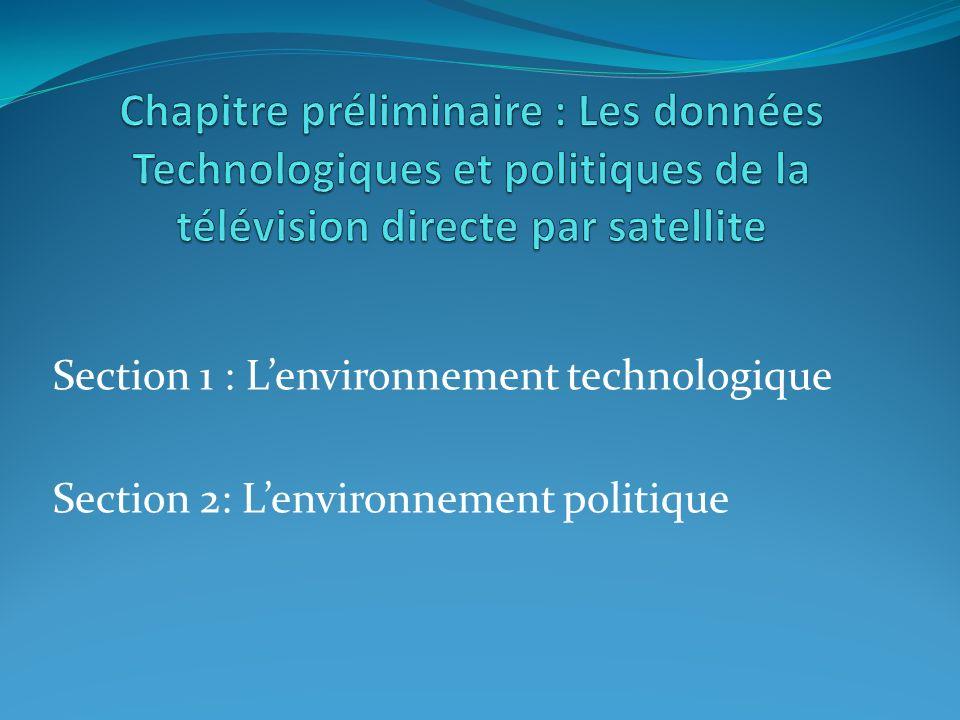 Chapitre préliminaire : Les données Technologiques et politiques de la télévision directe par satellite