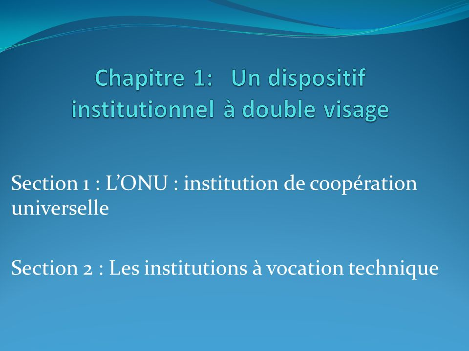Chapitre 1: Un dispositif institutionnel à double visage