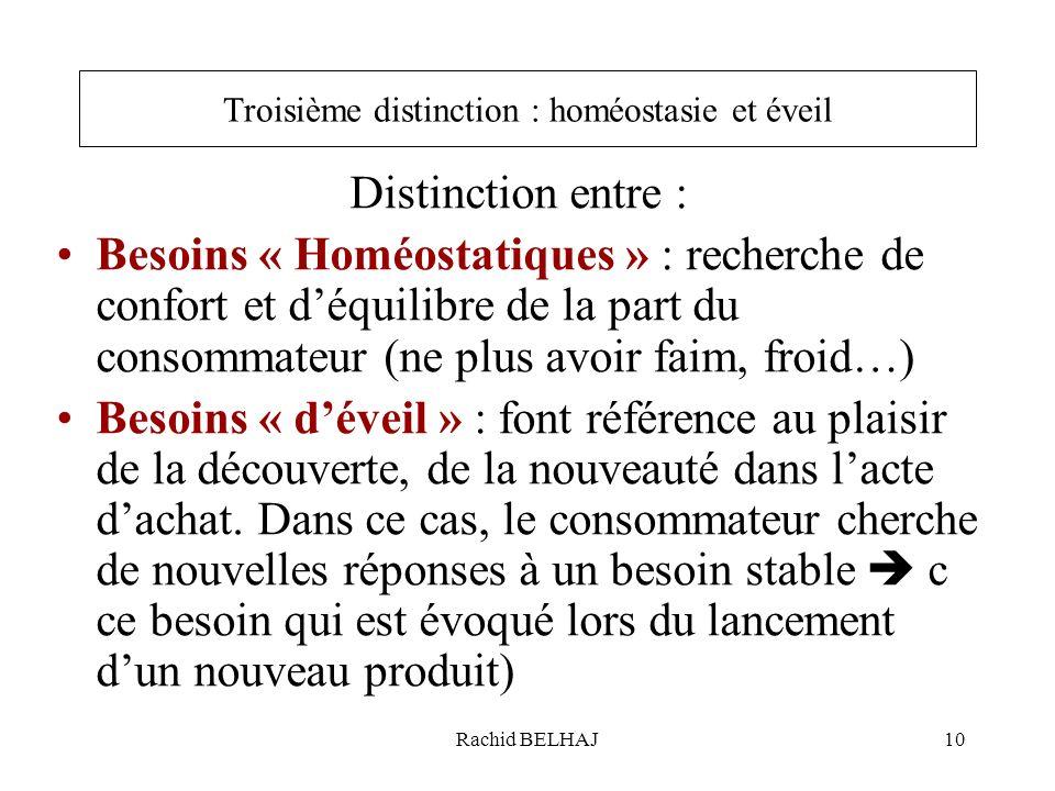 Troisième distinction : homéostasie et éveil