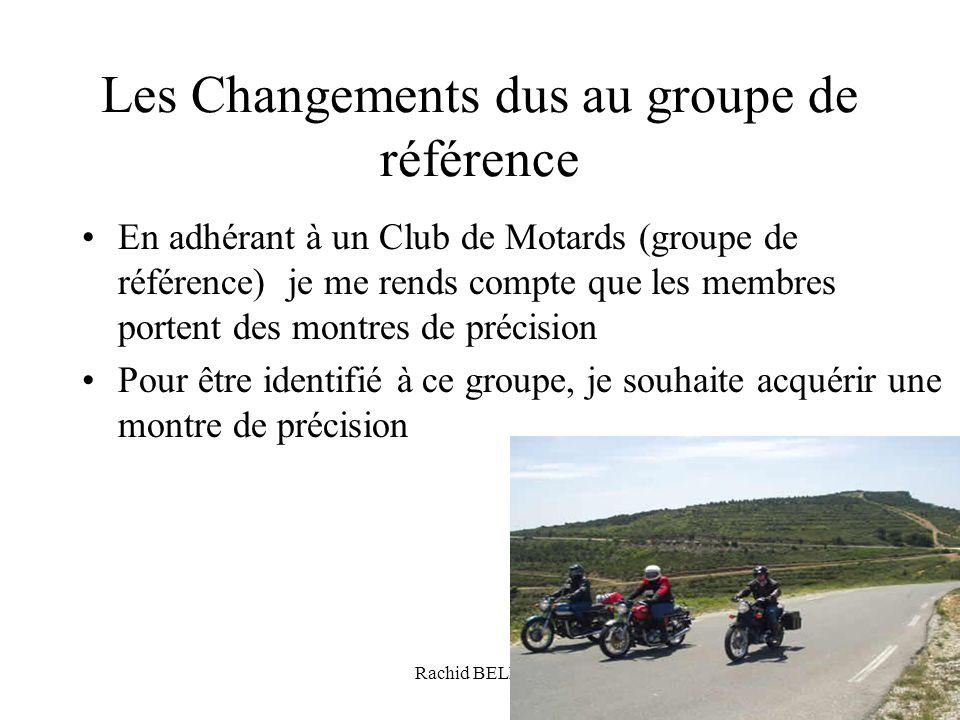 Les Changements dus au groupe de référence