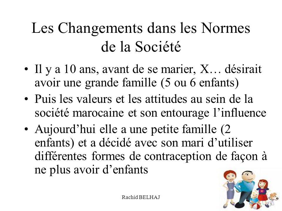 Les Changements dans les Normes de la Société