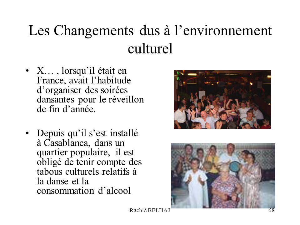 Les Changements dus à l'environnement culturel
