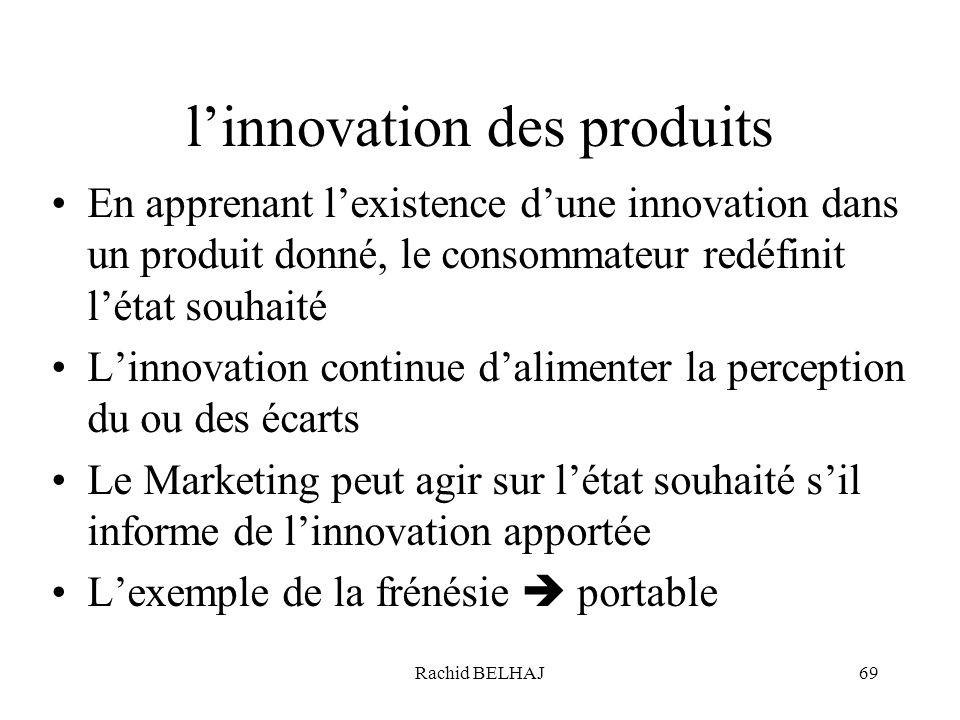 l'innovation des produits