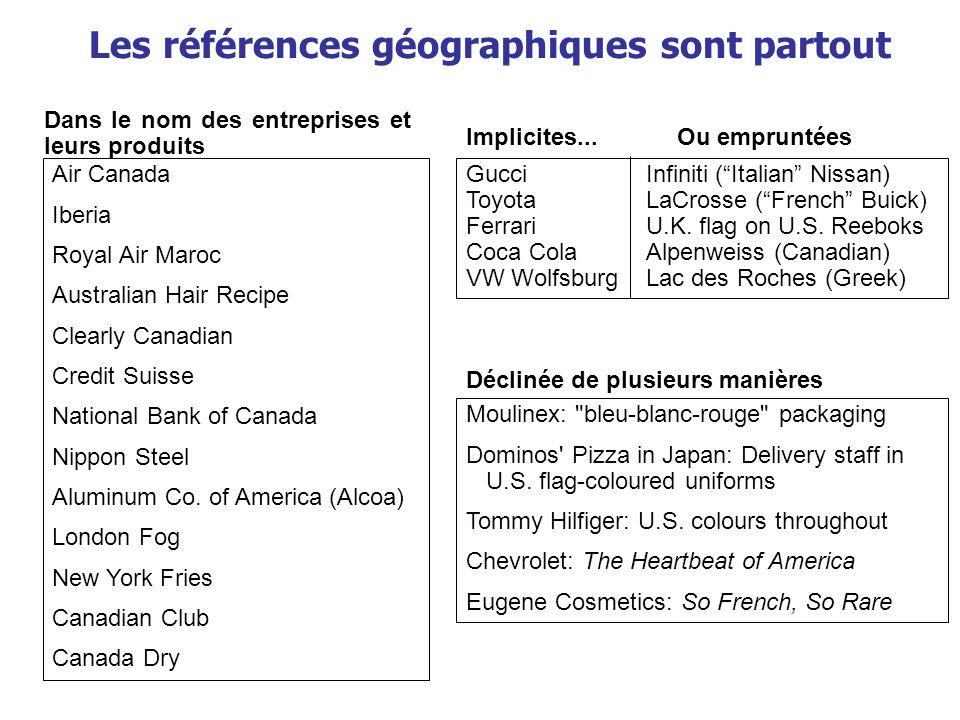 Les références géographiques sont partout