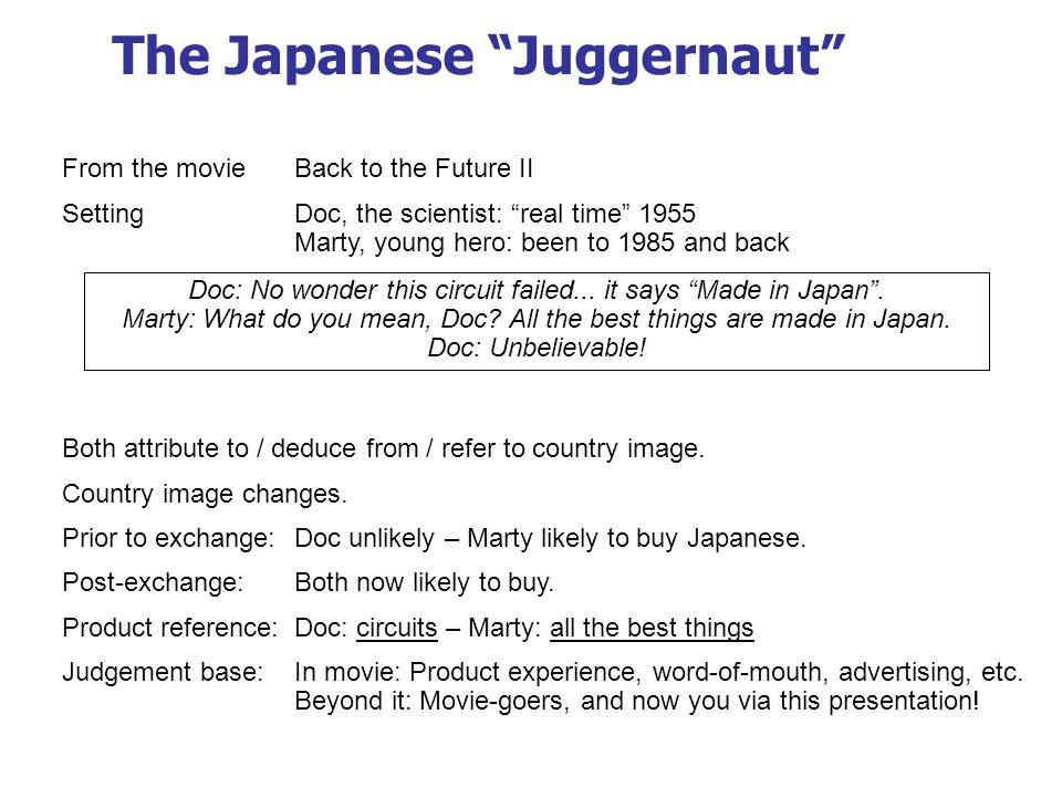 The Japanese Juggernaut