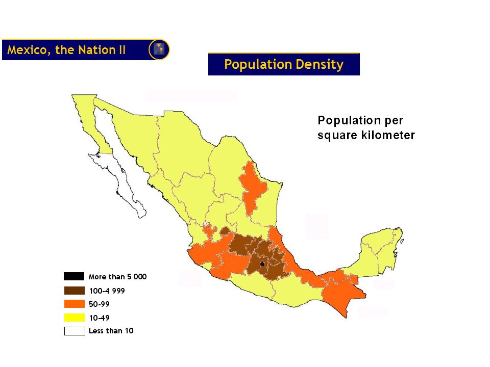 Mexico, the Nation II Population Density