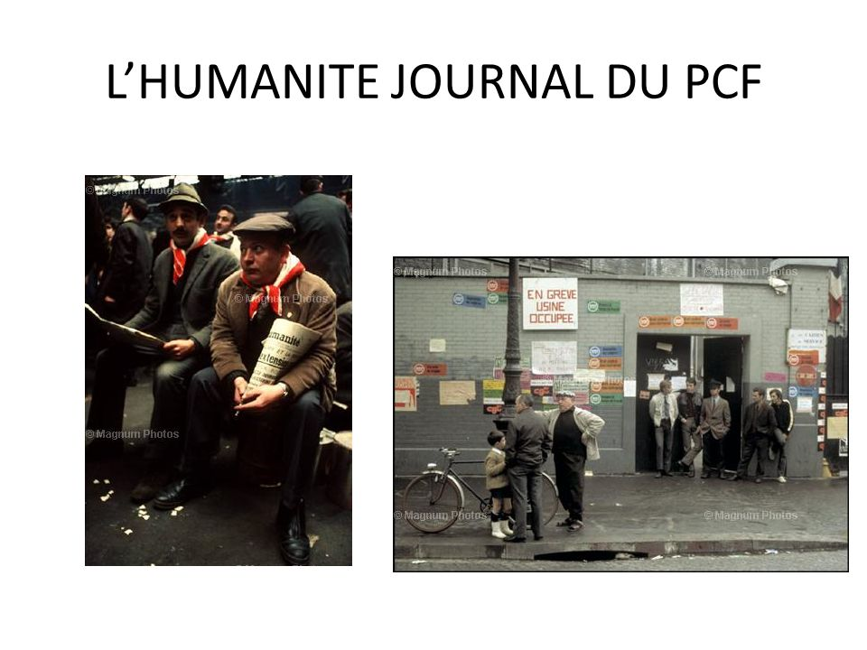 L'HUMANITE JOURNAL DU PCF
