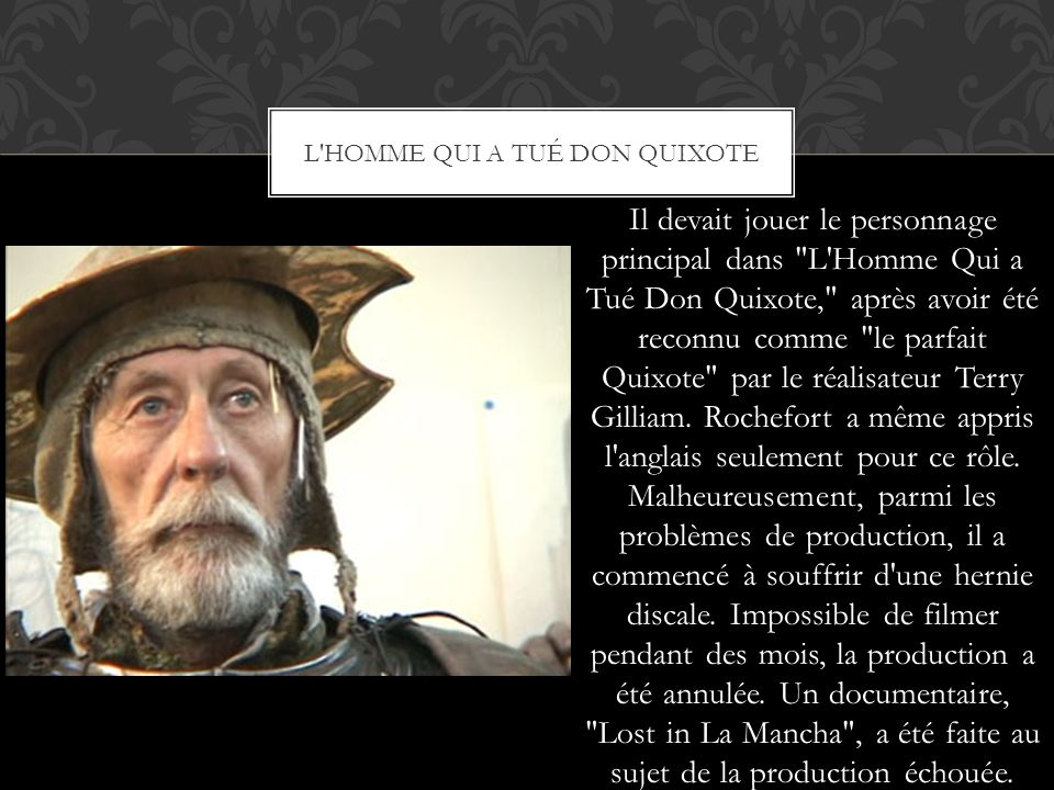 L homme qui a tué Don Quixote