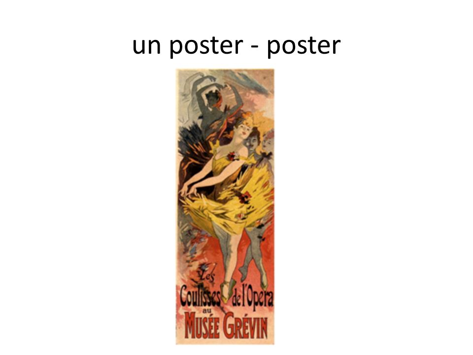 un poster - poster