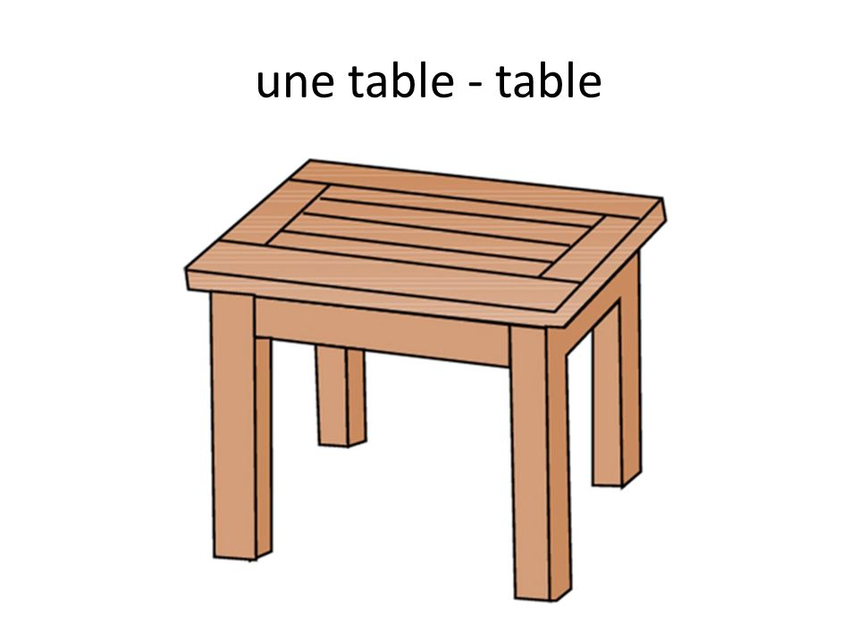une table - table