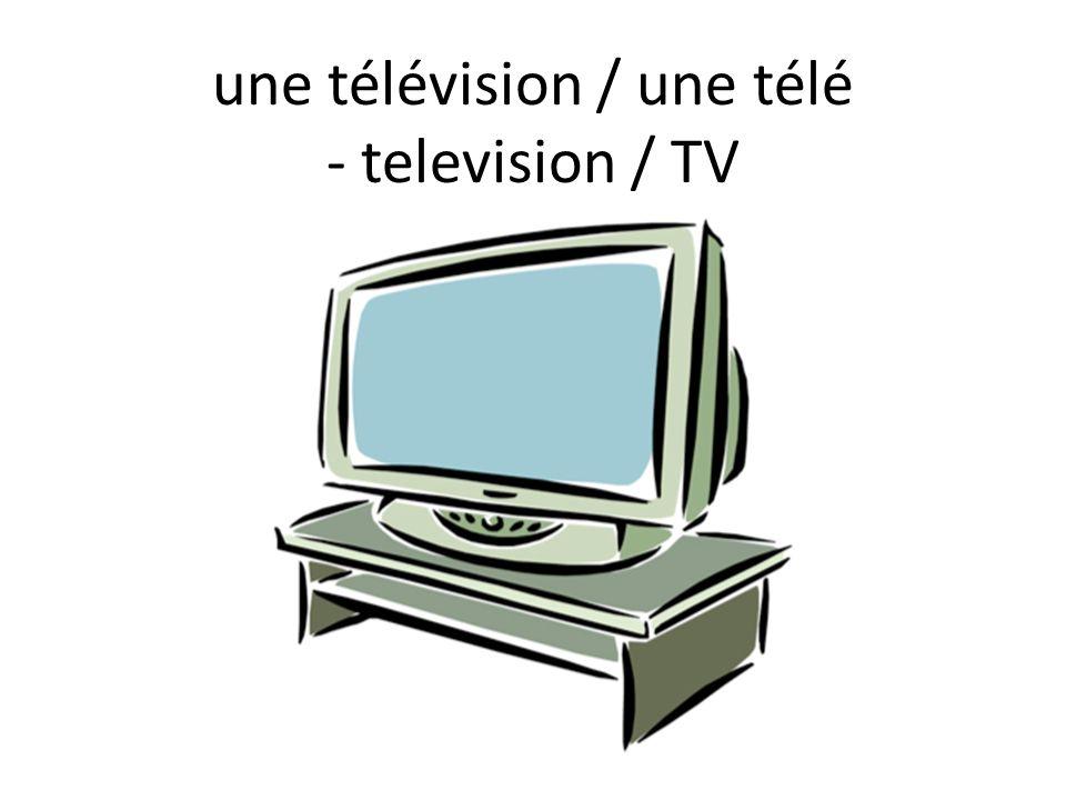 une télévision / une télé - television / TV