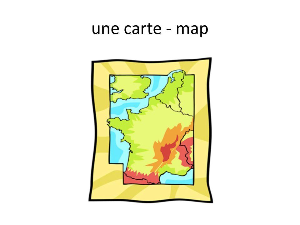 une carte - map