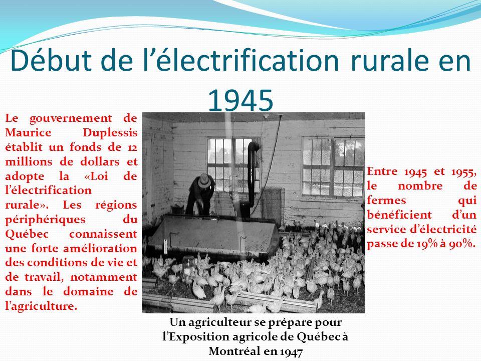 Début de l'électrification rurale en 1945