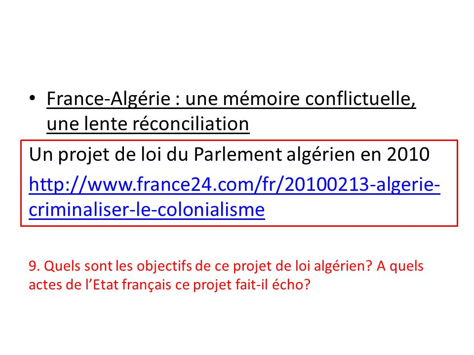 France-Algérie : une mémoire conflictuelle, une lente réconciliation