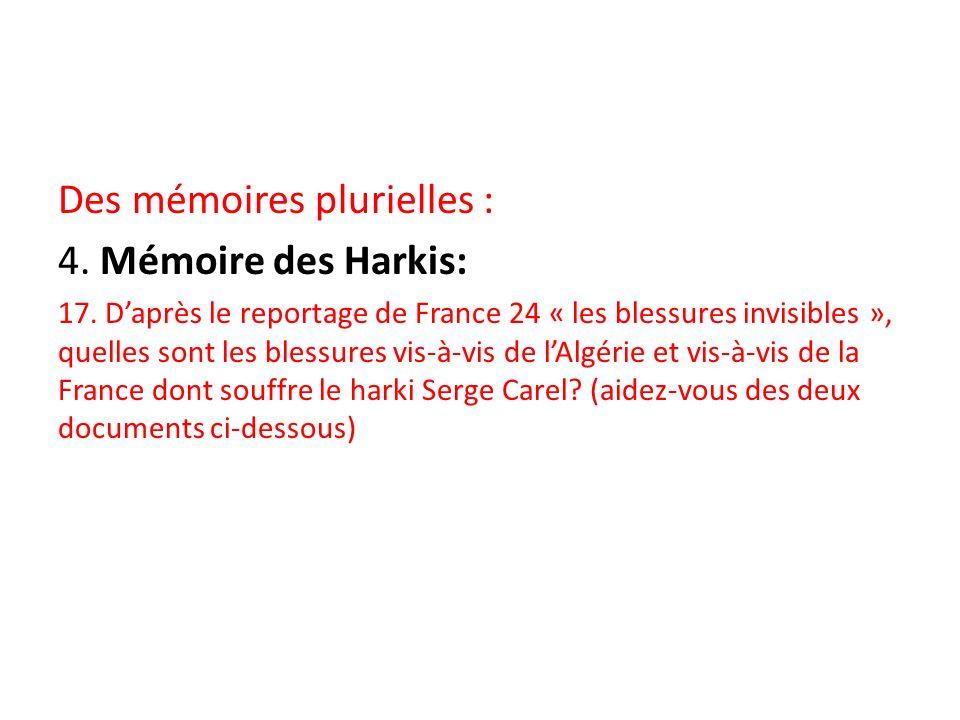 Des mémoires plurielles : 4. Mémoire des Harkis: