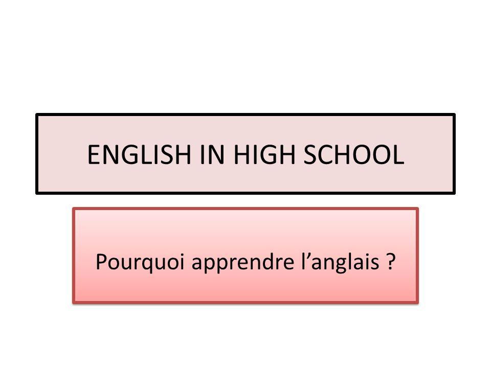 Pourquoi apprendre l'anglais