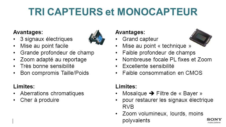 TRI CAPTEURS et MONOCAPTEUR
