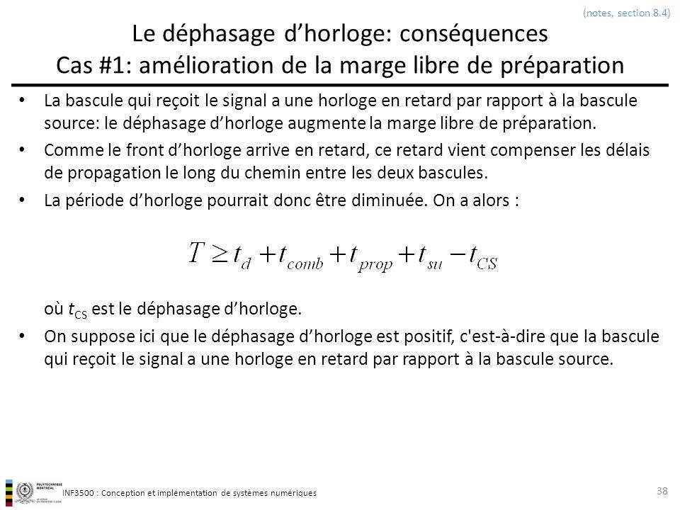 (notes, section 8.4) Le déphasage d'horloge: conséquences Cas #1: amélioration de la marge libre de préparation.