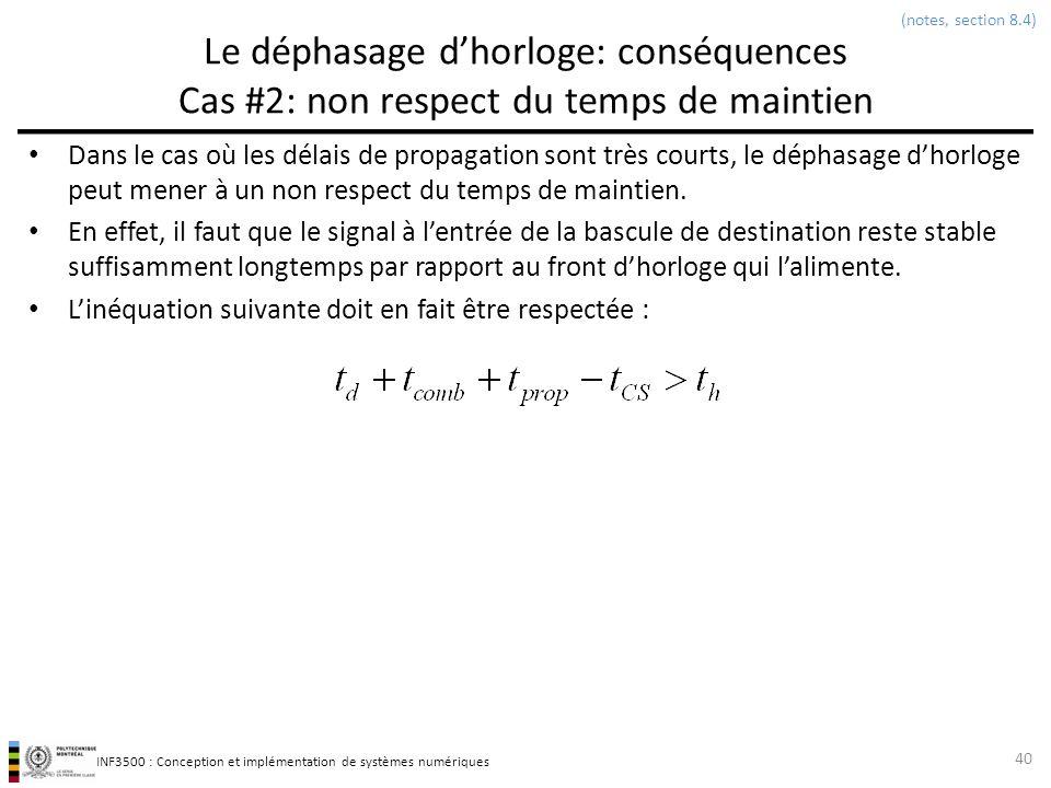 (notes, section 8.4) Le déphasage d'horloge: conséquences Cas #2: non respect du temps de maintien.