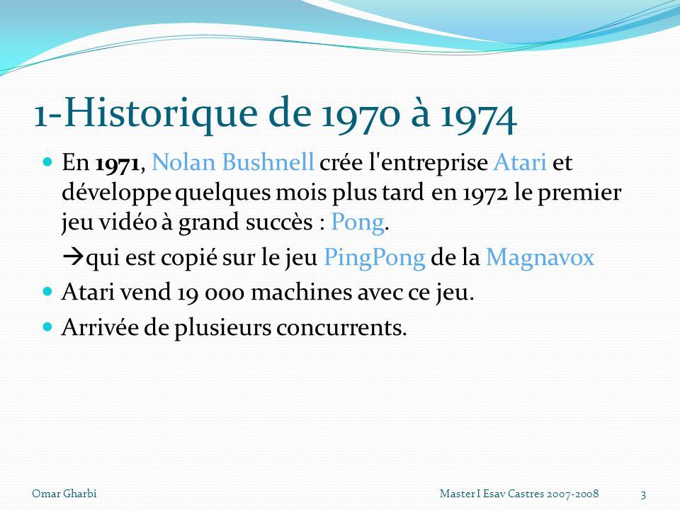 1-Historique de 1970 à 1974