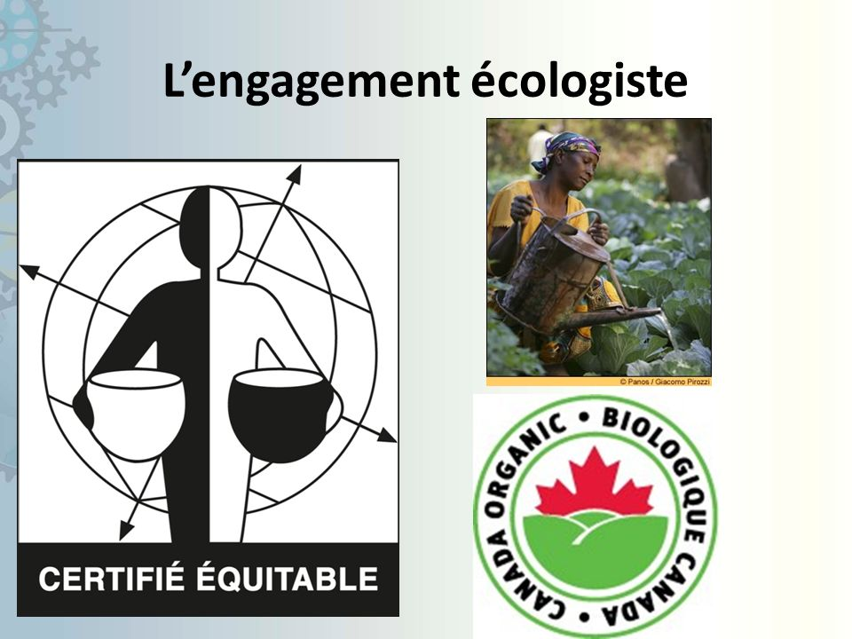 L'engagement écologiste