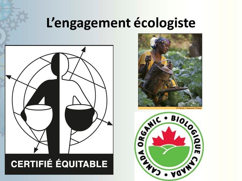 L'engagement écologiste