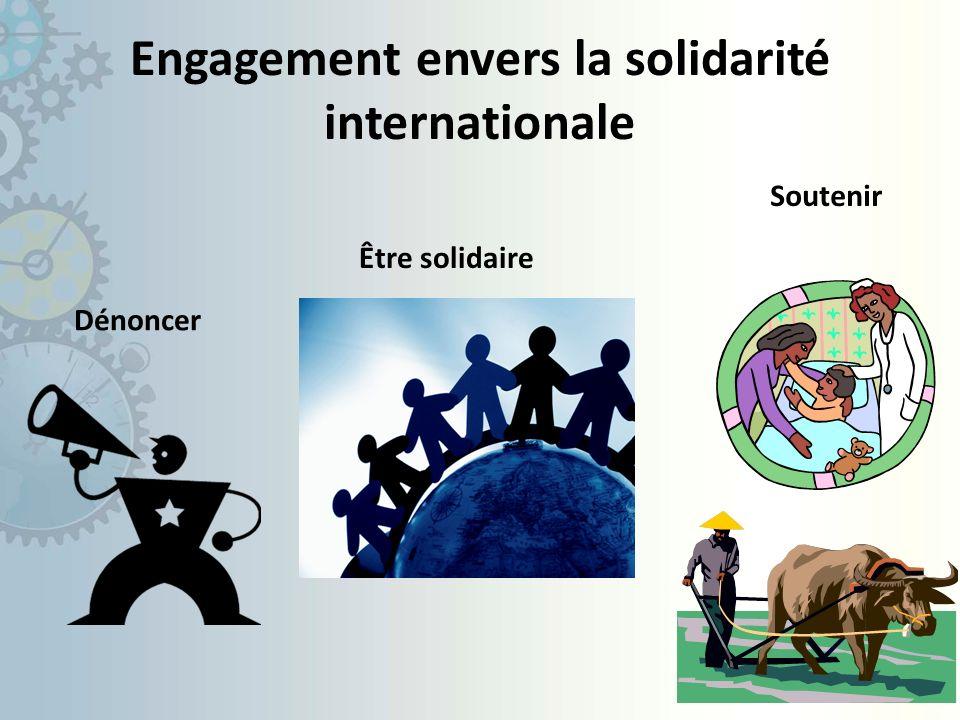 Engagement envers la solidarité internationale